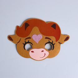 Фото Карнавальная маска Коровка Бетти из фетра