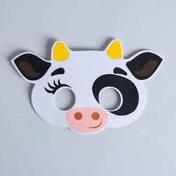 Фото Карнавальная маска Коровка Милка из фетра