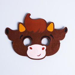 Фото Карнавальная маска Бычок Арчи из фетра