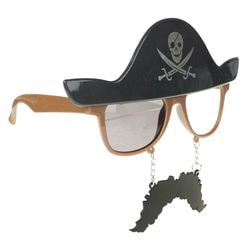 Фото Карнавальные очки Пират в шляпе