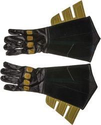 Фото Перчатки Бэтмена черные с золотом взрослые
