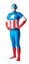 Фото Костюм Капитан Америка вторая кожа взрослый