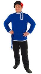 Фото Косоворотка синяя мужская