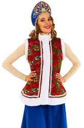 Фото Карнавальный жилет Масленица женский