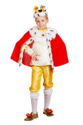 Фото Костюм Король Генри красный детский