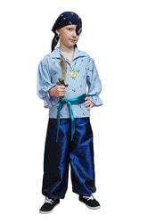 Фото Костюм Пират Джон в голубом для мальчика