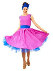 Фото Карнавальный костюм Стиляга в розовом платье женский