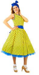 Фото Карнавальный костюм Стиляга в жёлтом платье женский
