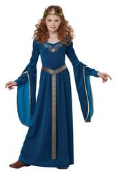Фото Костюм Средневековая принцесса в синем детский
