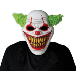 Фото Маска Сумасшедший клоун с подсветкой взрослый