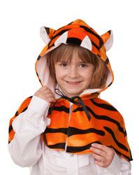 Фото Накидка Тигр с капюшоном детский