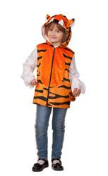 Фото Жилет Тигр с капюшоном детский