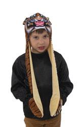 Фото Шапка Тигр с длинными ушками детский