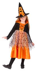 Фото Костюм Ведьмочка оранжевая детский