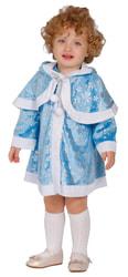 Фото Костюм Снегурочка-малышка голубая детский