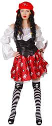 Фото Костюм Пиратка Мэри в красном взрослый