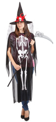 Фото Костюм Ведьма скелет с косой взрослый