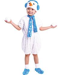 Фото Костюм Снеговичок (плюш завитки) детский