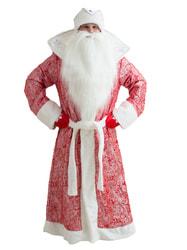 Фото Костюм Дед Мороз Царский узорный красный взрослый