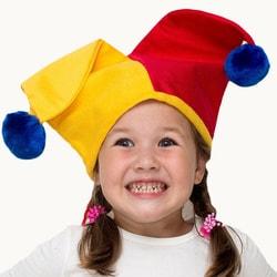 Фото Шапка Арлекино двухцветная детская