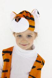 Фото Шапка Тигр полосатый детский