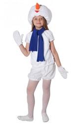 Фото Костюм Снеговик в шапочке и рукавичках детский