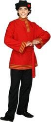 Фото Костюм Иван с красной рубахой взрослый