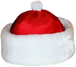 Фото Шапка Деда Мороза на парик красная взрослая