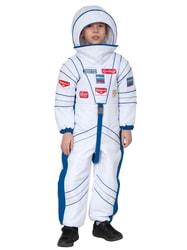 Фото Костюм космонавта в белом скафандре детский