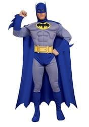 Фото Костюм Бэтмен с мускулами синий взрослый