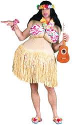 Фото Костюм Гавайская танцовщица с формами взрослый