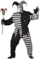 Фото Костюм Дьявольский шут черно-белый (большой размер) взрослый