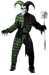 Фото Костюм Дьявольский шут черно-зеленый взрослый