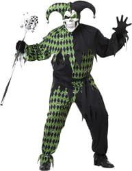 Фото Костюм Дьявольский шут черно-зеленый (большой размер) взрослый