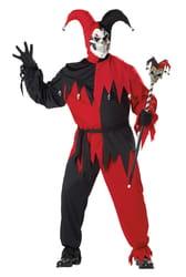 Фото Костюм Дьявольский шут черно-красный (большой размер) взрослый