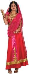 Фото Костюм Индианка в красном наряде взрослый
