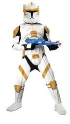 Фото Костюм Клон Трупер Коммандер Коди с накладками (Звездные войны) взрослый