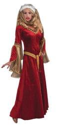 Фото Костюм Королева эпохи возрождения (в красном) взрослый
