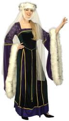Фото Костюм Королева эпохи возрождения deluxe (с белой оторочкой) взрослый