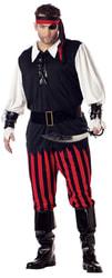 Фото Костюм Бесстрашный пират взрослый (большой размер)