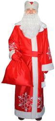 Фото Костюм Дед Мороз (красный, тафта) взрослый