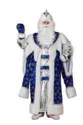 Фото Костюм Дед Мороз королевский синий взрослый
