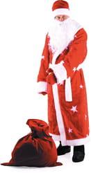 Фото Костюм Дед Мороз мех красный взрослый