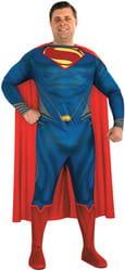 Фото Костюм Супермена большого размера (Человек из Стали) взрослый