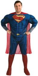 Фото Костюм Супермена с мускулами (большой размер) взрослый