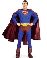 Фото Костюм Супермена с мускулистым торсом взрослый