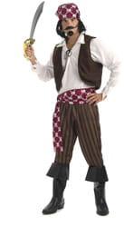 Фото Костюм отважного Пирата в бандане взрослый