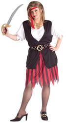 Фото Костюм милая Пиратка (большой размер) взрослый