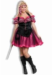 Фото Костюм Пиратка розовая (большой размер) взрослый