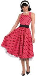 Фото Костюм Платье в стиле 50-х (красное) Стиляга взрослый